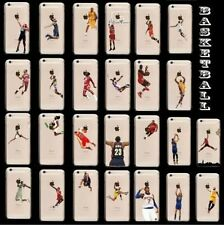 Nouveau Coque Jordan iphone 5S 5C 6 6S Plus DUNK NBA Kobe James Soft Basketball