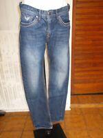 Pantalon jeans taille haute KAPORAL DYK 16 ans Brodé en grand  17JJ9