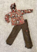 Burton boys 2pc brown/red snowboarding/ski outfit set, size L