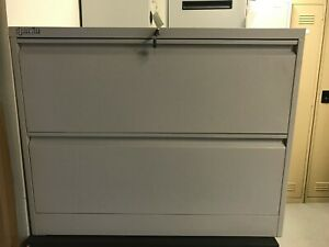 2 Drawer Lateral Filing Cabinet Lockable Spacewise