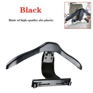 Car Auto Seat Headrest Jacket Coat Suit Clothes Plastic Hanger Holder Black