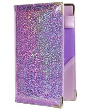 Holographic Glitter Server Book for Waitress and Waiter ZIPPER Pocket 8x5