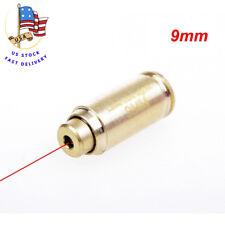 US CAL. 9mm Red Dot laser Cartridge Brass Bullet Shaped Boresight Sight&Battery