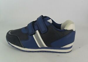 Vertbaudet Navy Touch and Close Trainers UK 1 EU 33 JS086 GG 02