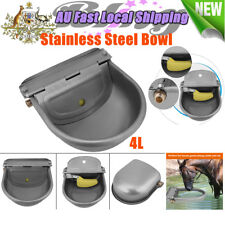 AU Stainless Water Trough Automatic Drinking Bowl for Horses Goats Sheep Cattle