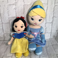 Disney Princess Plushes - Bundle X 2 Cinderella & Snow White Soft Toys Rag Dolls