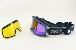 Smith Riot Ski / Snow Goggles Meridian Ikat, Everyday Violet Mirror Lens +Bonus