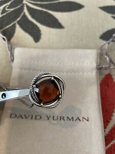 DAVID YURMAN 14MM Infinity Pendant Necklace Citrine Sterling