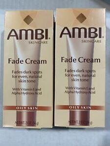 AMBI Fade Cream 2oz 12/2020 exp  lot of 2 oily skin