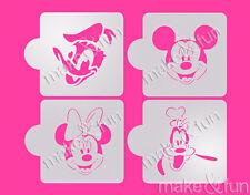 4 pcs Disney Cookie Stencil, Cupcake stencils , cake stencil, Schablonen
