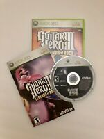 Guitar Hero III: Legends of Rock Game Microsoft Xbox 360 - Complete with Manual