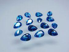 Blue 9x6mm Pear Shape Loose Stones Cubic Zirconia Gemstones