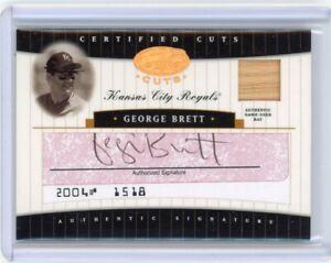 2004 Leaf Certified Cuts George Brett Cut Auto/Bat #'d /15