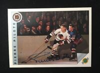 PIERRE PILOTTE 1992 ULTIMATE AUTOGRAPHED SIGNED AUTO HOCKEY NHL CARD 63
