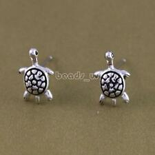 1 Pair Vintage Thailand Silver Color 3D Turtle Stud Earring New Women Jewelry