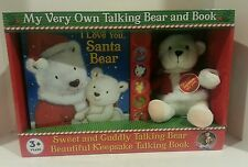 My Very Own Sweet and Cuddly Holiday Talking Bear and Book Brand New- Needs Batt