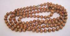 beads approx 130 cm long Lovely strand of brown wooden look