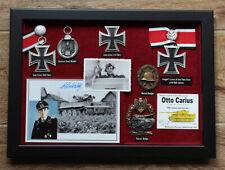 OTTO CARIUS KC OL 150 VICS PANZER ACE ** a unique exhibition case