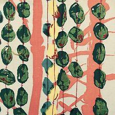 De colección años 50 Bambú Tela era atómica textil de arte expresionista Retro de Mediados De Siglo