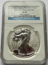 2011 P S$1 Silver Eagle Reverse Proof S$1 NGC PF 70, 25th Anniversary Label (25R