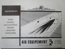 1966-1968 PUB DBA AIR EQUIPEMENT AVION HELICOPTERE LANCEUR ENGIN SATELLITE AD
