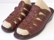 WOMEN SHOES  SAS MULES  Size 11S BROWN LEATHER US