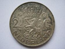 Netherlands 1961 silver 2 1/2 Gulden GVF toned