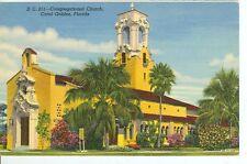FLORIDA,CORAL GABLES CONGREGATIONAL CHURCH DC211  LINEN (FL-C2)