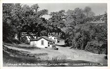 <A3> CALIFORNIA Ca Postcard Photo RPPC c40s RICHARDSON MINERAL SPRINGS Cottages