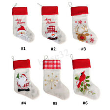Personalised Christmas Santa Claus Candy Sack Gifts Present Xmas Socks