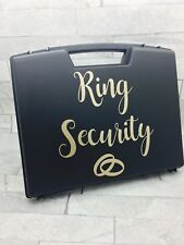 Ring Security Box Briefcase Glitter font ring pillow wedding ring box bearer