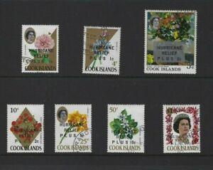 Cook Islands Mint Set 1968 Hurricane Relief OVPT  Set of Flowers