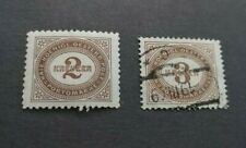 1894 Perf: Postage Due stamps : 2k (MH,OG) 3k used : nice examples
