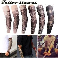 Patrón de Tatuaje Mangas de brazo de refrigeración Funda De Protección Solar UV Baloncesto Sport