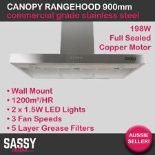 900mm Stainless Steel Rangehood Canopy Kitchen BBQ Alfresco Range Hood Twin 90cm
