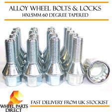 Wheel Bolts & Locks (12+4) 14x1.5 Nuts for Audi 100 [C2] 76-82