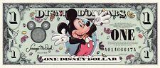 NEW VHTF DISCONTINUE Y2K 2000 DISNEY DOLLAR $1 MILLENNIAL ISSUE MICKEY EPCOT