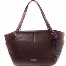 COACH Carrie Leather Tote New Handbag Shoulderbag Fig Purple BNWT Style F23284