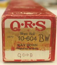 More details for qrs pianola word roll: way down