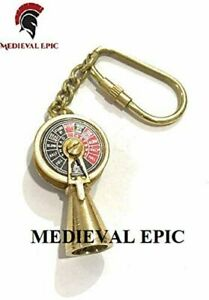 Medieval Epic Solid Brass Titanic Engine Telegraph Keychain Nautical Gift