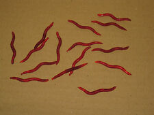 15 x artificial red worms for fishing