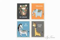 Nursery Set of 4 Prints Scandi Tribal Boho Baby Boy Nursery Print Decor DIY