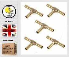 8mm Tee pneumatic barb Tee  Barbed Hose Tail, Air,Water  5 PCS UK SELLER