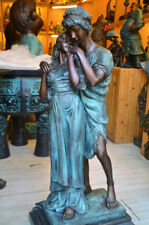 Western Bronze Marble Statue Men And Women Lovers sweetheart Art Deco Statue