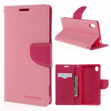 Korean Mercury Goospery Fancy Diary Wallet Case Cover Sony Xperia M4 Light Pink