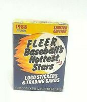 1988 Fleer Limited Edition Baseball Hottest Stars 44 Card Set Revco Exclusive