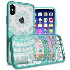 Teal Mandala Slim Fit TPU Bumpers Hard Cover Phone Case for Apple iPhone XS / X