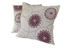 Set of 2 or 4 Scatter Cushions - Spiral Design -4 Colours - COMPLETE WITH INNERS