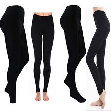 Tights or Leggins Ladies Womens Full Foot Thermal Tights Thermal Leggins Black