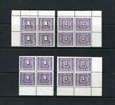 Canada J6-J9 mint NH postage due blocks, CV $430